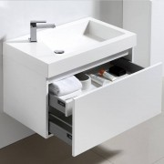 Thalassor Meuble de salle de bain 80 cm GINGER Finition blanc laqué