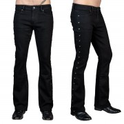 Muške hlače (traperice) WORNSTAR - Gauntlet Skull - Black - WSGP-GLTSK