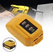 EH 12V / 20V DCB090 Fuente De Alimentación USB Para Dewalt Cordless Power Supply USB Charger - Amarillo