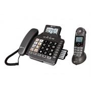 Geemarc AMPLIDECT COMBI 355 - Téléphone sans fil - système de répondeur avec ID d'appelant/appel en instance - DECTGAP