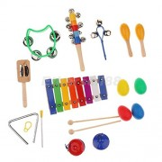 Tradico® Musical Instruments Percussion Set for Kids Child - Rhythm Maracas Band Play