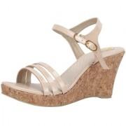 SHOFIEE Women Cream Coloured cork Trendy Wedges/party wear/casual /wedding/fashionable stylish sandal