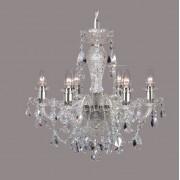 Lustra 6 brate cristal Bohemia, silver/ aquamarine