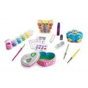 Melissa & Doug Decorate-Your-Own Favourite Things Craft Kits Set: Flower and Heart Treasure Box Butterfly Bank