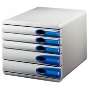 Suport documente, 5 sertare, albastru, LEITZ Allura