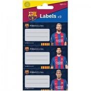 Etichete caiet FC Barcelona 9 buc