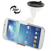 Suction Cup Car Bracket Mount for Samsung Galaxy S IV / i9500 / Galaxy S III / i9300 / N7100 / iPhone / Z10 / HTC / Nokia / Other Mobile Phone Support 360 Degree Rotation