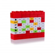 Puzzle DIY Bloque De Construcción Tabla Calendario - Rojo