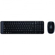 Logitech MK220 Wireless Keyboard and Mouse Combo (Black)