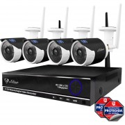 Nvr Wifi 4 Camaras Ip Vigilancia Hd Ir Seguridad 1 Mp