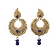 Indian Style Beaded Dangle Drop Fashionable Earrings Traditional Jhumka Jhumki Earrings for Women 21 BLUE