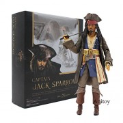 SHFiguarts Pirates of the Caribbean Captain Jack Sparrow PVC Action Figure Collectible Model Toy 15cm