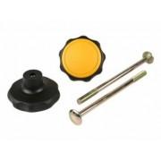Spinder Bouton Spinder 10623 noir / jaune avec boulon (2x) S10623