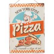 New York Style Pizza - Metallskylt 40x26 cm