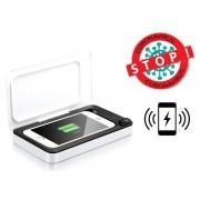 """Sterilizační UV box pro mobilní telefony do 6,6 """"s bezdrátovým nabíjením"""