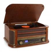 Auna RM1-Belle Epoque 1908 tocadiscos vintage reproductor vinilo marrón oscuro (RM1-BELLE EPOQUE1908)