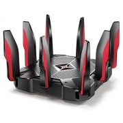 Router Gaming Wireless TP-LINK Archer C5400X, Gigabit, Tri-Band, 5400 Mbps, 8 Antene externe (Negru/Rosu)