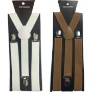 atyourdoor Y- Back Suspenders for Men(White)
