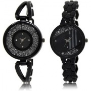 The Shopoholic Black Combo Latest Collection Fancy And Attractive Black Dial Analog Watch For Girls Women Stylish Watches