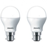 Philips Base B22 9-Watt LED Bulb (Cool Day Light and Pack of 2)