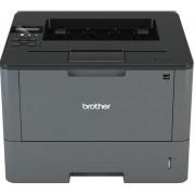 Imprimanta Brother HL-L5100DN, laser alb/negru, A4, 40 ppm, Duplex, Retea + Banda laminata Brother TZe-211, 6mm x 8m (Negru/Alb)