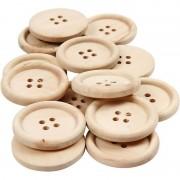 Geen 14 Stuks houten knopen 30 mm