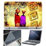 FineArts Laptop Skin Abstract Series 1030 With Screen Guard and Key Protector - Size 15.6 inch