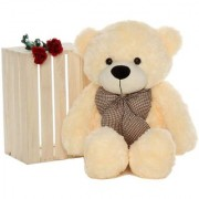 MS Aradhyatoys Teddy Bear Soft Toy Cream 4 fit