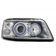 Přední světla, lampy Angel Eyes VW T5 Transporter, Multivan 03-09 chromová