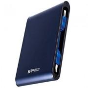 """Silicon Power SP010TBPHDA80S3B Armor A80 Hard Disk Esterno Portatile da 1 TB, IEC 529 IPX7 Test di Grado Militare, Antiurto/Impermeabile da 2.5"""", USB 3.0, Blu"""