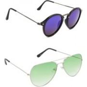 Hrinkar Round Sunglasses(Violet, Green)