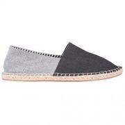 Live Ur Style Men Black n Grey Denim lycra reversi styled Espadrilles Casual Shoes (UK 6)