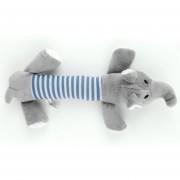 ER Perrito Mascota Mastica Squeaky Juguete Peluche Sonido Los Juguetes Del Perro-elefante Gris