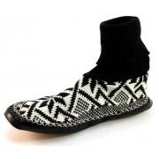 Litha heren pantoffels noors patroon Zwart LIT33