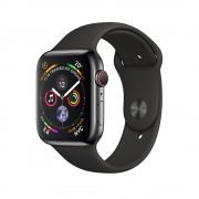 Умные часы Apple Watch Series 4 GPS + Cellular 40mm Space Black Stainless Steel Case with Black Sport Band (Черный космос / Черный)