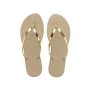 Havaianas-Slippers-Flip Flops You Metallic-Beige