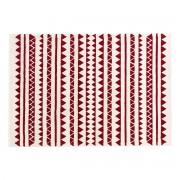 Miliboo Teppich mit grafischen Motiven Rot 120 x 170 cm TAYA