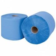 Rouleau essuie tout industriel bleu tissu 2 plis 26x35cm - 472m - 1350