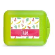 YourSurprise Boîte à goûter enfant - Fruits à croquer - Vert citron