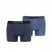 Levi's 2-pack Herringbone boxershorts blauw