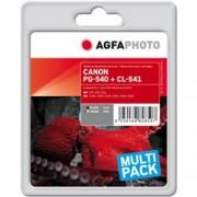 ORIGINAL Agfa Photo Multipack nero / differenti colori APCPG540 CL541XLSET Agfa Photo Agfa Photo PG-540 + CL-541 (5225B006)