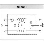 Soclu alimentare tata IEC cu filtru si suport siguranta Yunpen, 2 x 0,3 mH, 10 A
