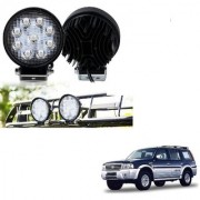 Auto Addict DEVICE 4 inch 9 LED 27Watt Round Fog Light with Flood Beam Auxiliary Lamp Set Of 2 Pcs For Ford Endeavour