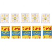 Virgo Toys Brain Lock and Tangram (Combo) - Pack of 5