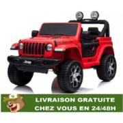 4x4 électrique Jeep Wrangler Rubicon-télécommande Bluetooth - Rouge