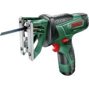 Fierăstrău multifuncţional cu acumulator Bosch EasySaw 12 06033B4004, 12 V, Acumulator Litiu-Ion, Lampă de lucru integrată, Negru verde