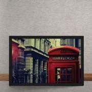 Quadro Decorativo Foco Cabine Telefonica Londres 25x35