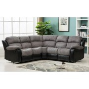 Montana Jumbo Cord Reclining Corner Sofa - Brown or Grey - Grey