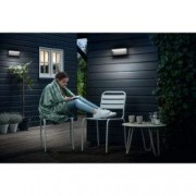 Aplica LED integrat pentru exterior Philips myGarden Bustan 2x4.5W 35W 1000 lm IP44 Gri inchis