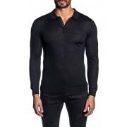 Jared Lang Long Sleeve Polo Shirt BLACK